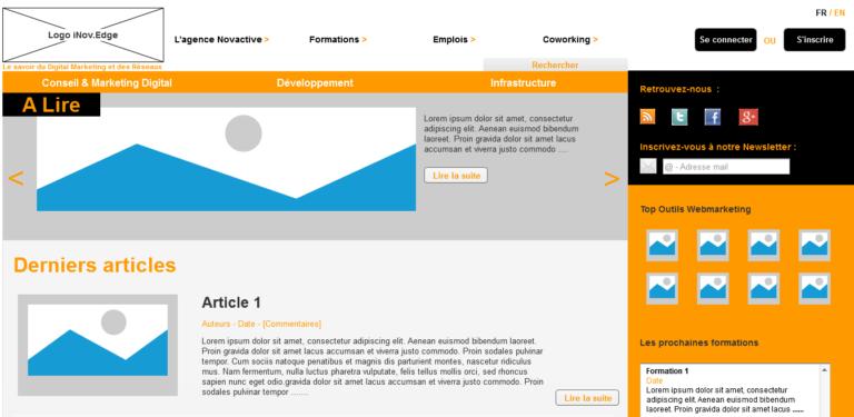 Prototypage / Mockup – Portail des savoirs