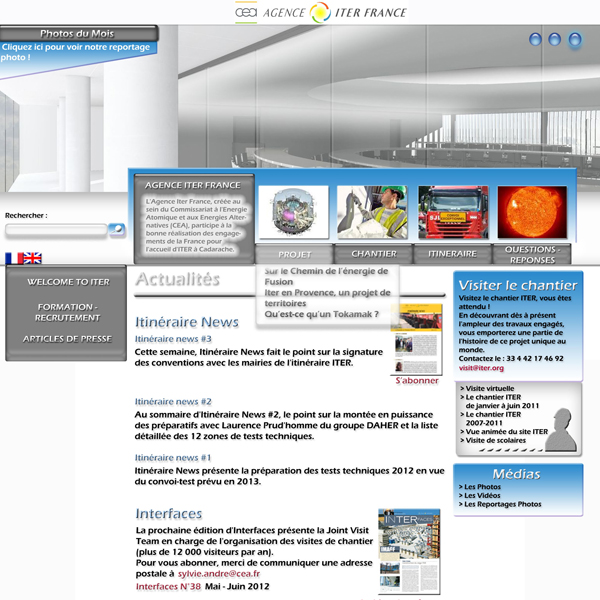 Propositions Graphiques pour le site de l'AIF